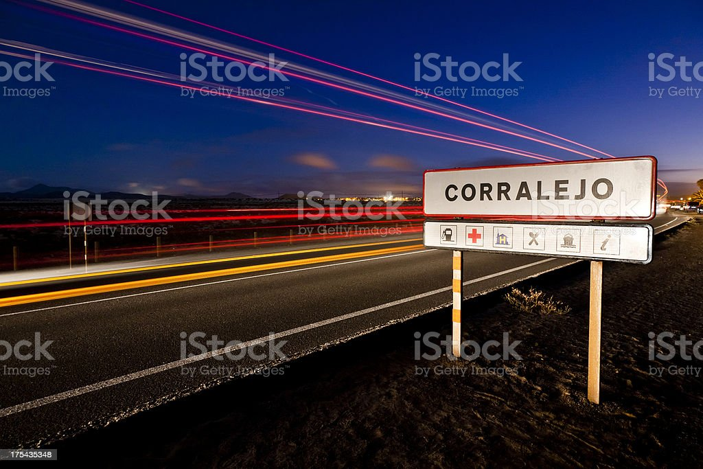 Main road of Corralejo. Fuerteventura. royalty-free stock photo
