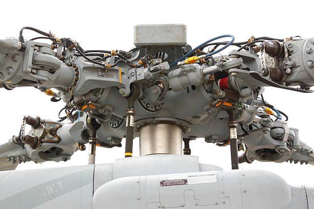 Main rotor on white background stock photo