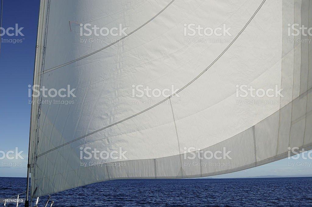 Main Sail Sailing Holiday, Tourism - Canada Series stock photo