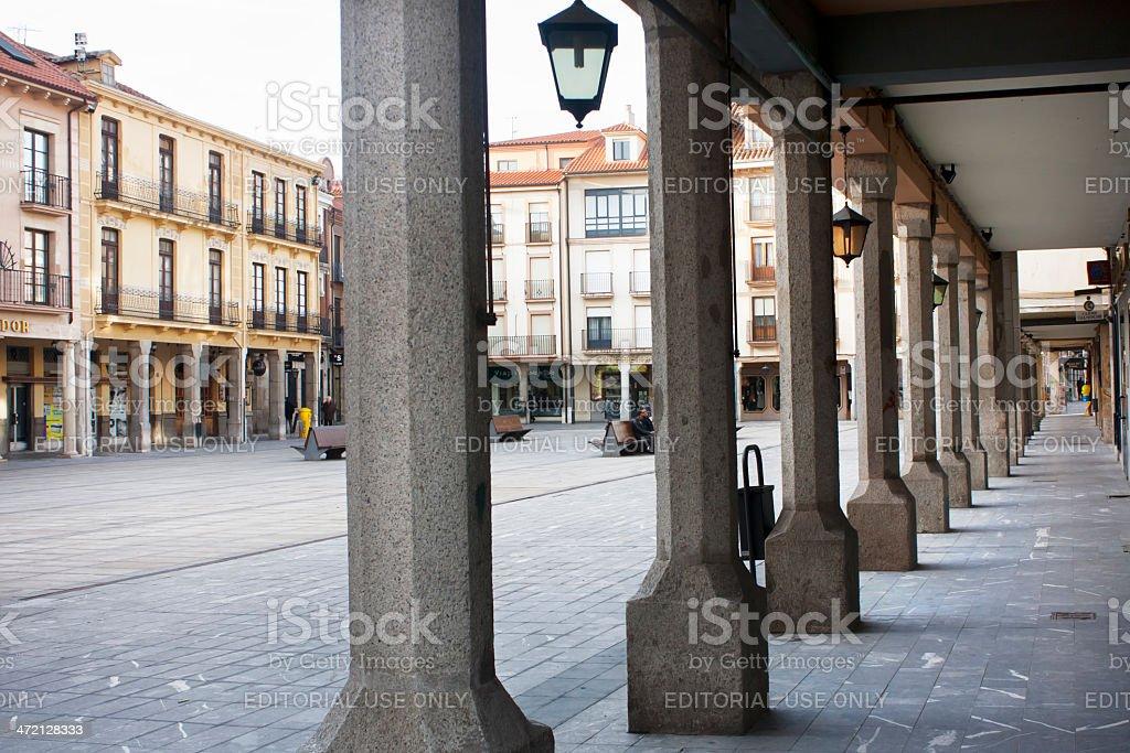 Plaza principal, Astorga, España. - foto de stock
