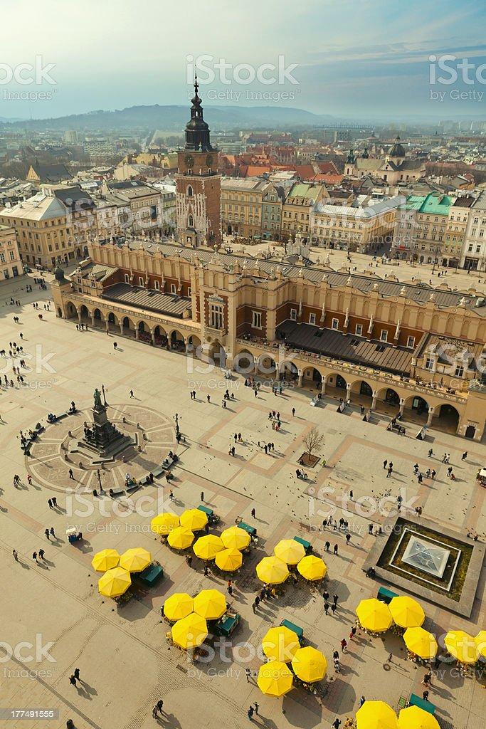 Main Square in Krakow (Poland) stock photo