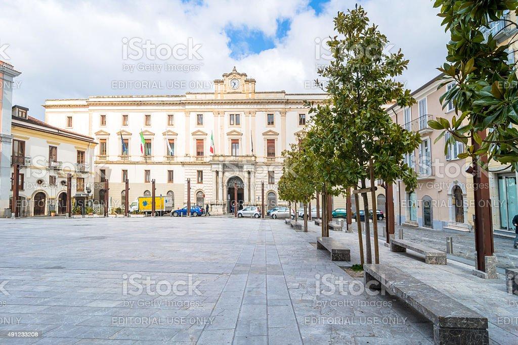Piazza principale di Potenza, Italia - foto stock