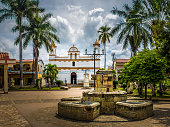 Main square of Copan Ruinas City, Honduras