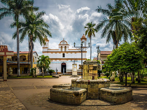 Main square of Copan Ruinas City, Honduras – Foto