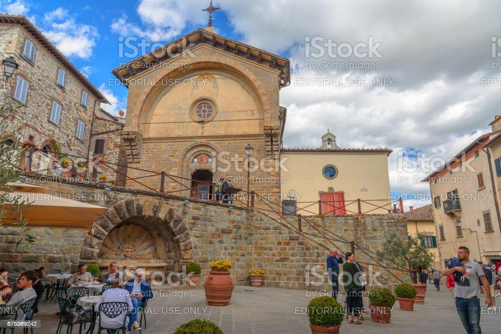 Main square of the town of Radda in Chianti stock photo
