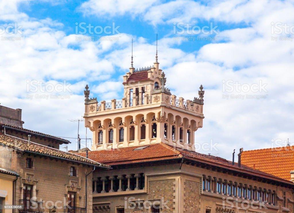 Main square of Vic, Catalonia, Spain stock photo