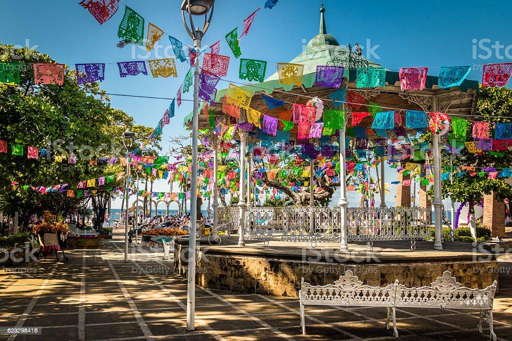 Main square - Puerto Vallarta, Jalisco, Mexico stock photo
