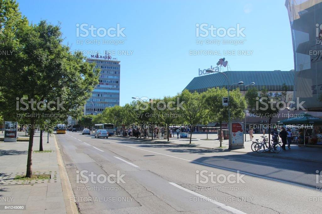 Banja Luka, Bosnia and Herzegovina - July 6, 2017: Main street and...