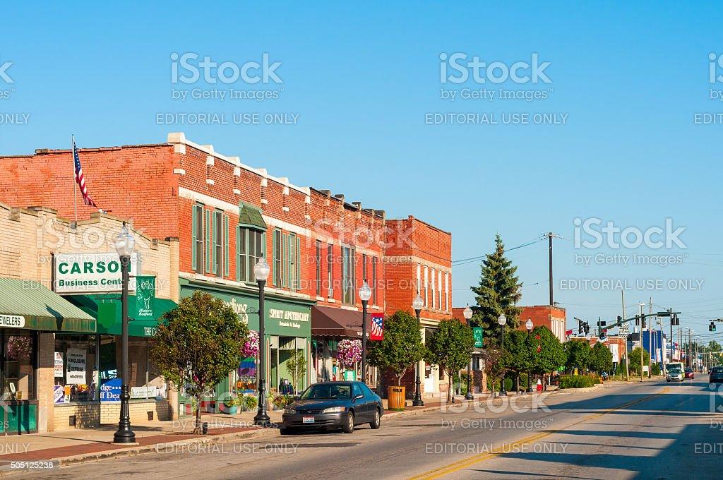 Main Street Bedford stock photo