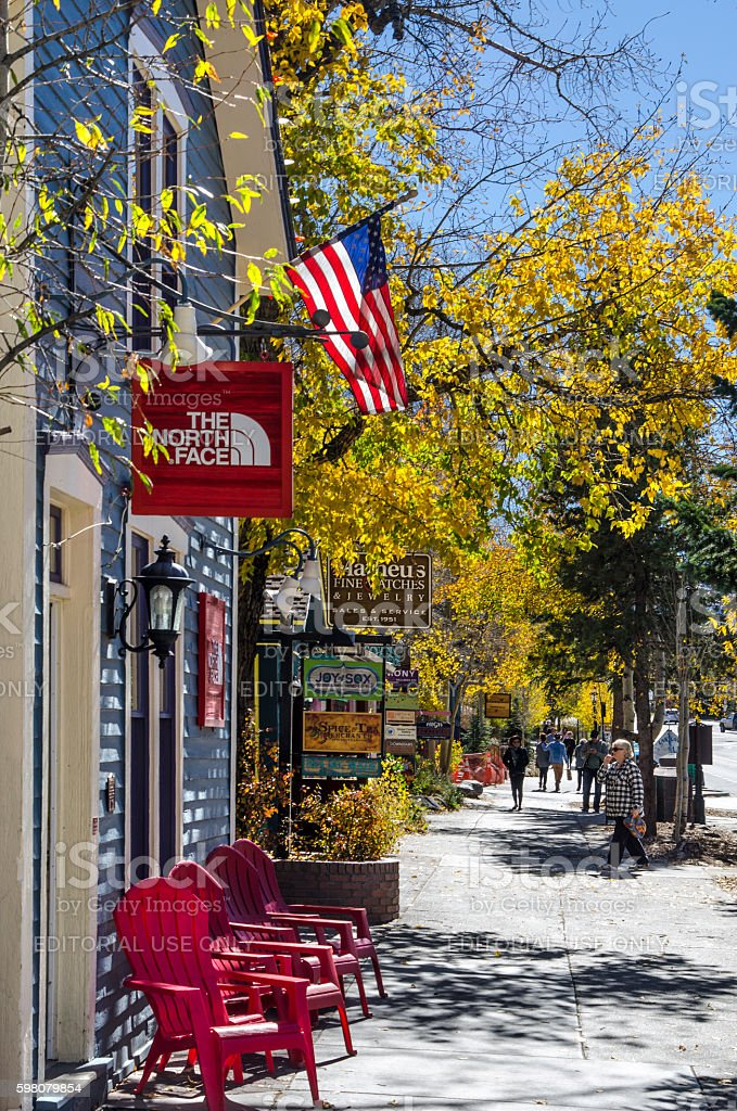 Main Street, Breckenridge, Colorado stock photo
