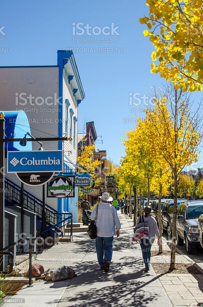 Main Street, Breckenridge, Colorado stock photo
