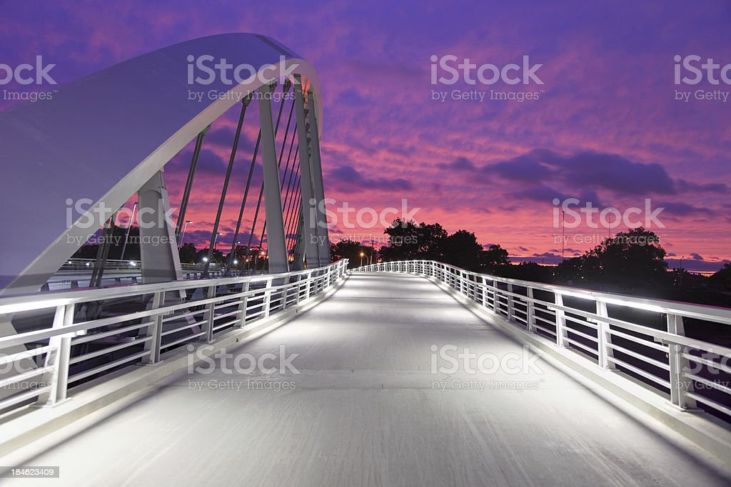 Main Street Bridge Columbus stock photo