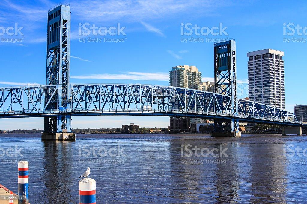 Main Street Bridge in Jacksonville, Florida stock photo