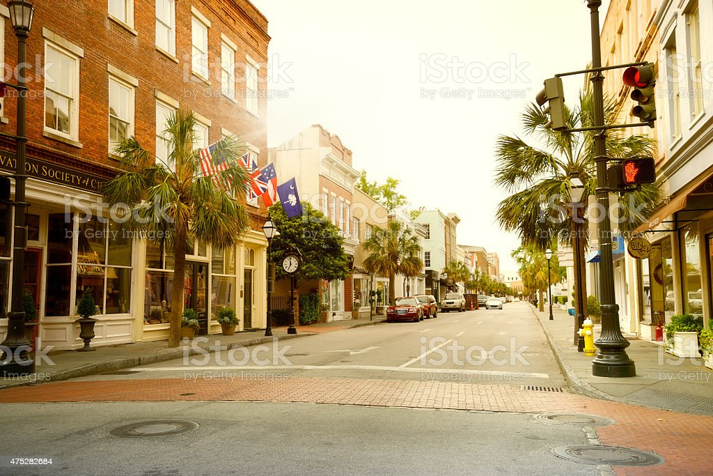 Main Street, Charleston, South Carolina stock photo
