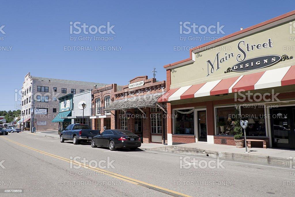 Main Street gift shops in Jackson, CA royalty-free stock photo