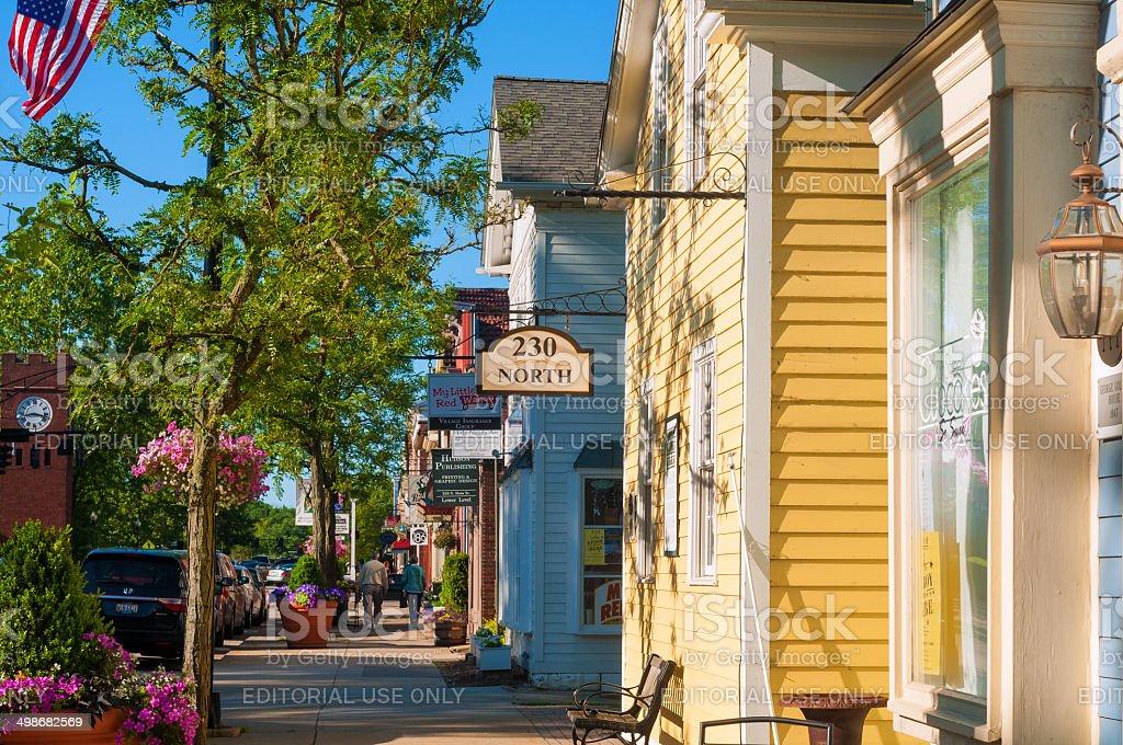 Main Street Hudson stock photo