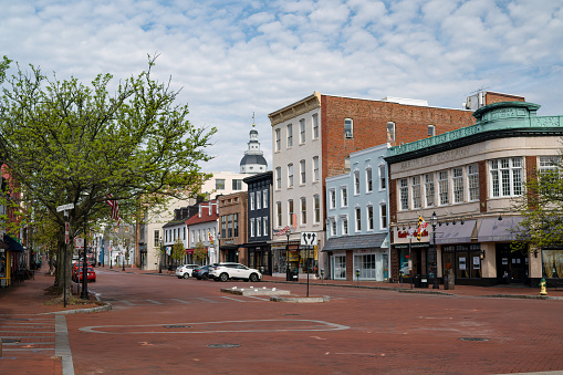 View of Main Street in Annapolis, Maryland