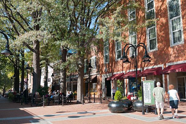 Main street in Charlottesville, Virginia, USA
