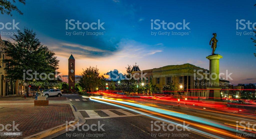 Main Street in Downtown Spartanburg, South Carolina stock photo