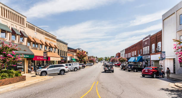 Main Street in Lincolnton stock photo