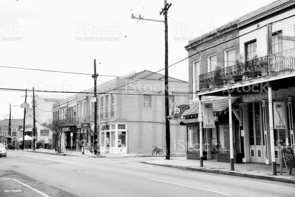 Main Street in New Orleans stock photo