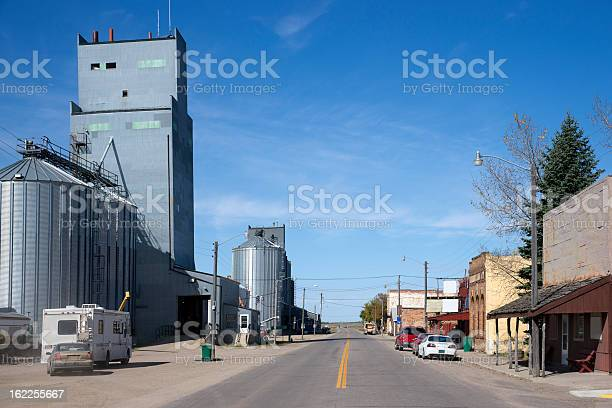 Main Street in Small North Dakota Town