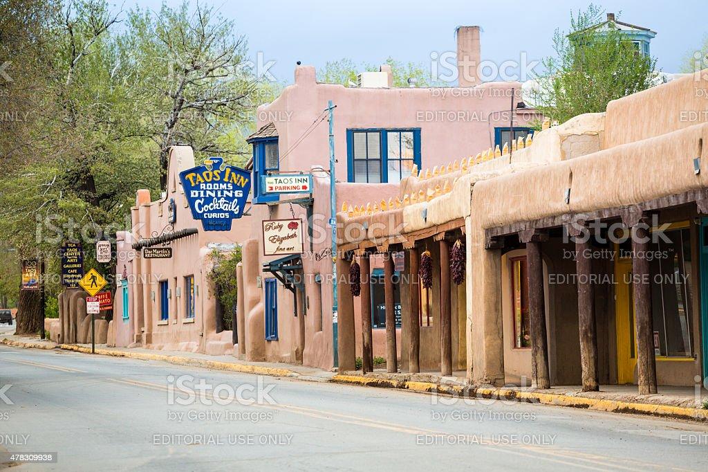 Main Street in Taos stock photo