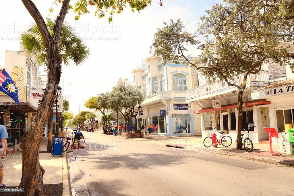 Main street, Key West stock photo