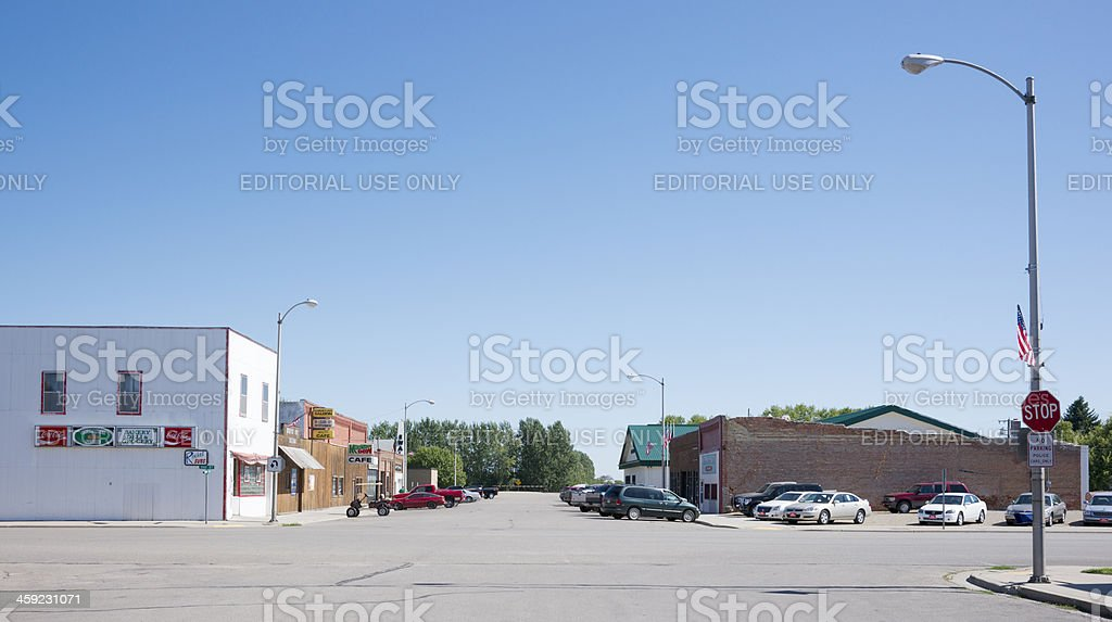 Main Street, Minto, North Dakota royalty-free stock photo