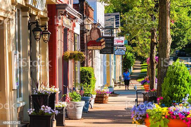 Main Street North Stock Photo - Download Image Now