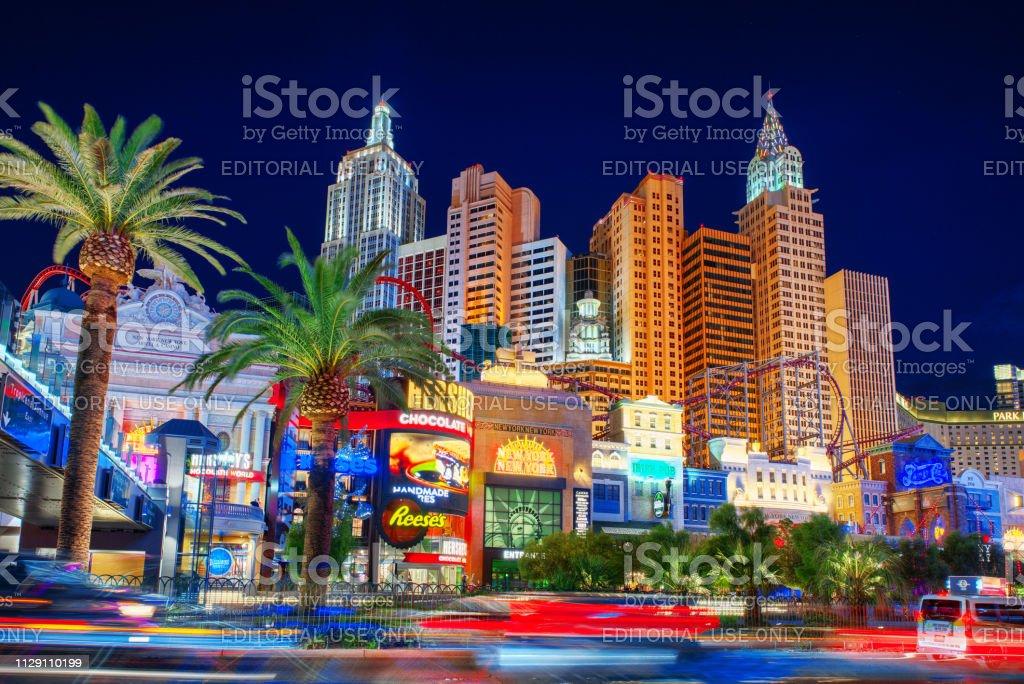 Las Vegas, Nevada, USA - September 15, 2018: Main street of Las...