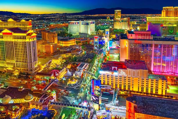 Las Vegas ana sokak-gece zaman Strip olduğunu. stok fotoğrafı