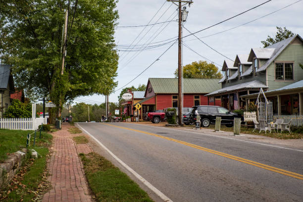 Main Street of Leiper's Fork, Tennessee stock photo