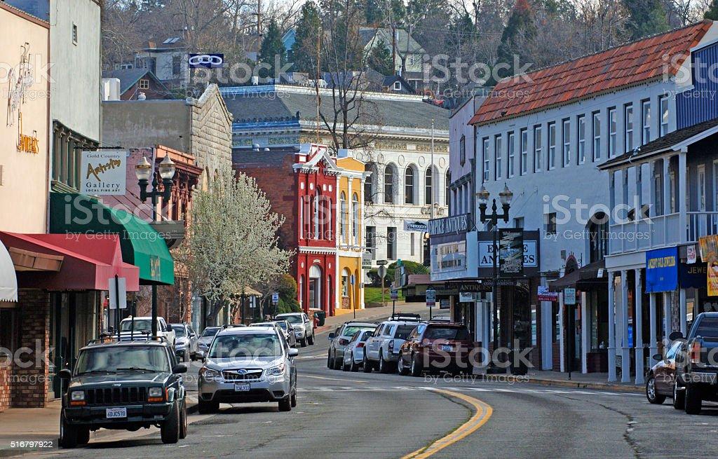 Main Straße von Placerville, Kalifornien – Foto