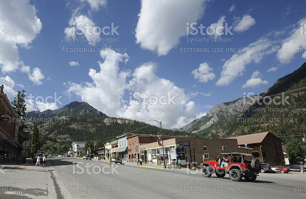 Main Street Ouray royalty-free stock photo