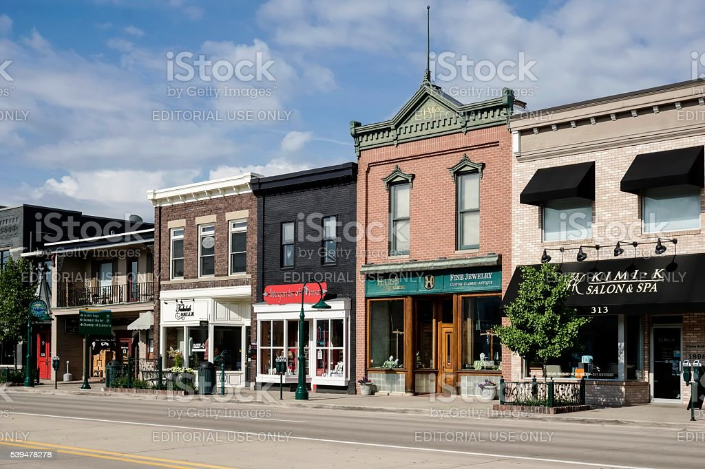 Main Street, Rochester, Michigan stock photo