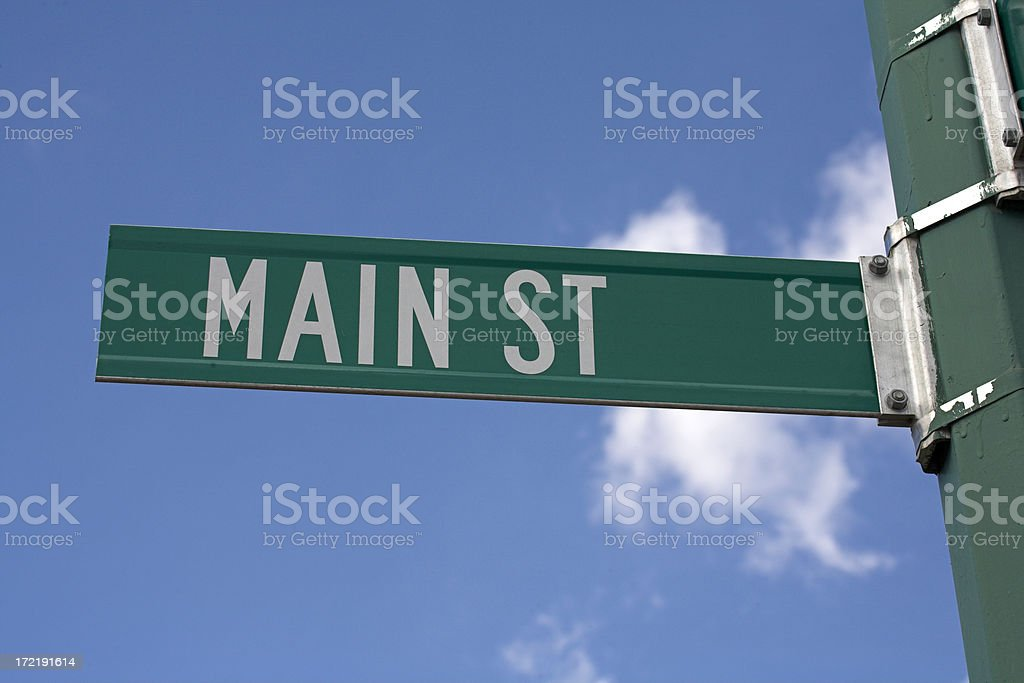 main street small town america street sign pictures, images and