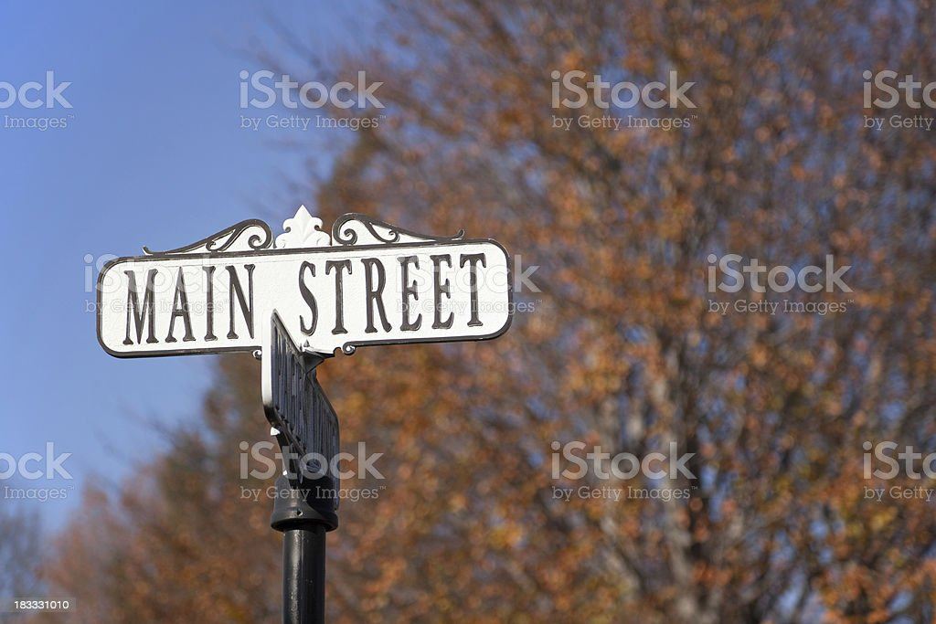 Main Street Sign stock photo