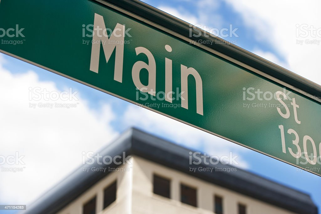 Main Street Sign royalty-free stock photo