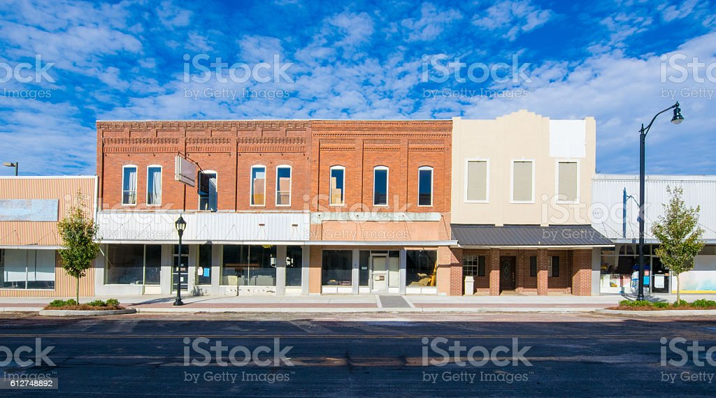 Main Street  - Small Town America stock photo