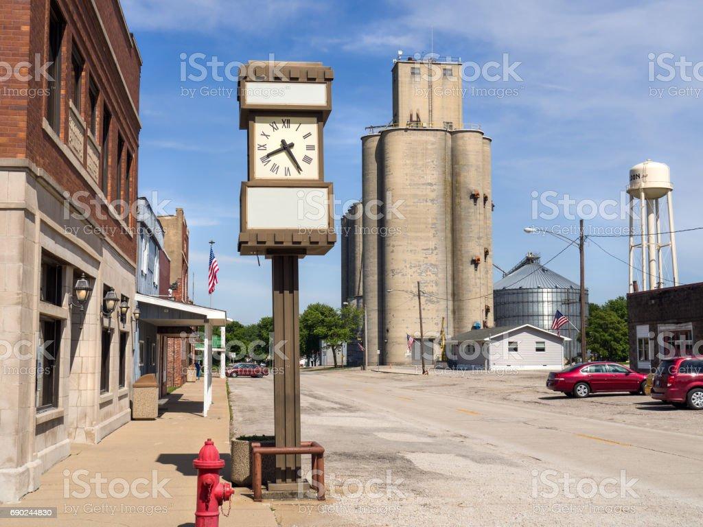 Main Street, Small Town, USA stock photo