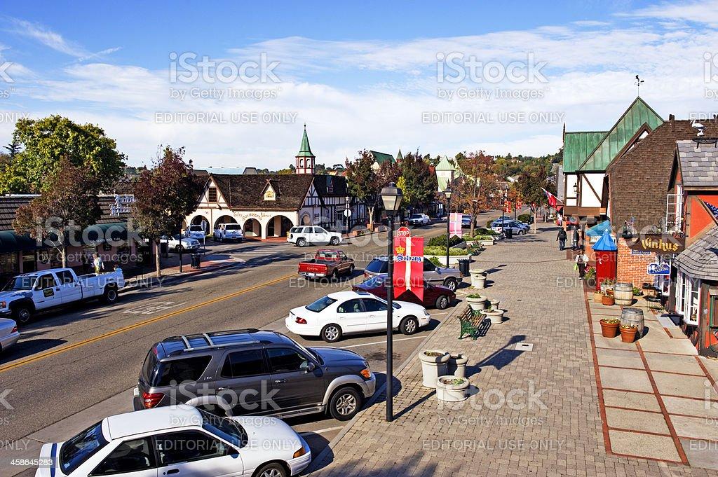 Main Street Solvang Historic Area stock photo