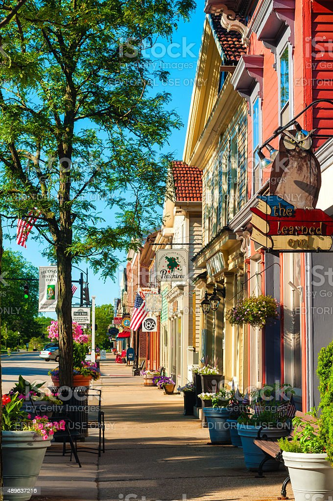 Main Street south stock photo