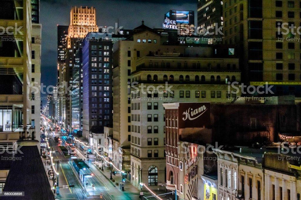 Main Street Square stock photo