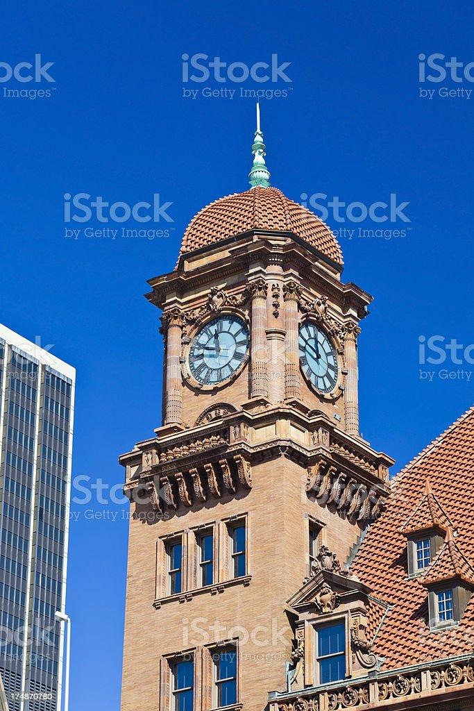 Main Street Train Station Clock Tower In Richmond, Virginia royalty-free stock photo