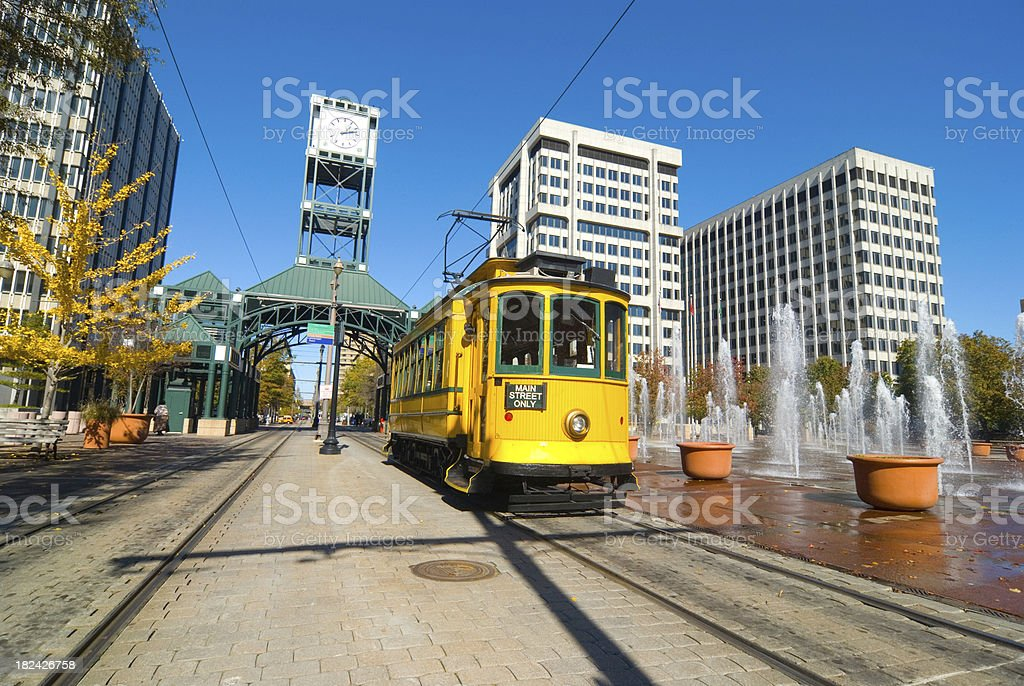 Main Street Trolley in Memphis, TN stock photo