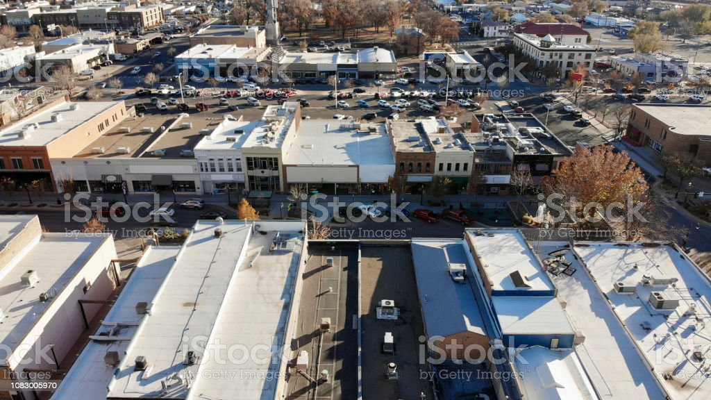 Main Street USA Aerial View stock photo