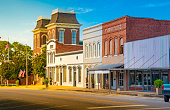 Small town square in Union Springs, Alabama.