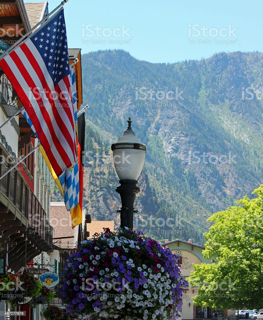 Main Street, USA stock photo