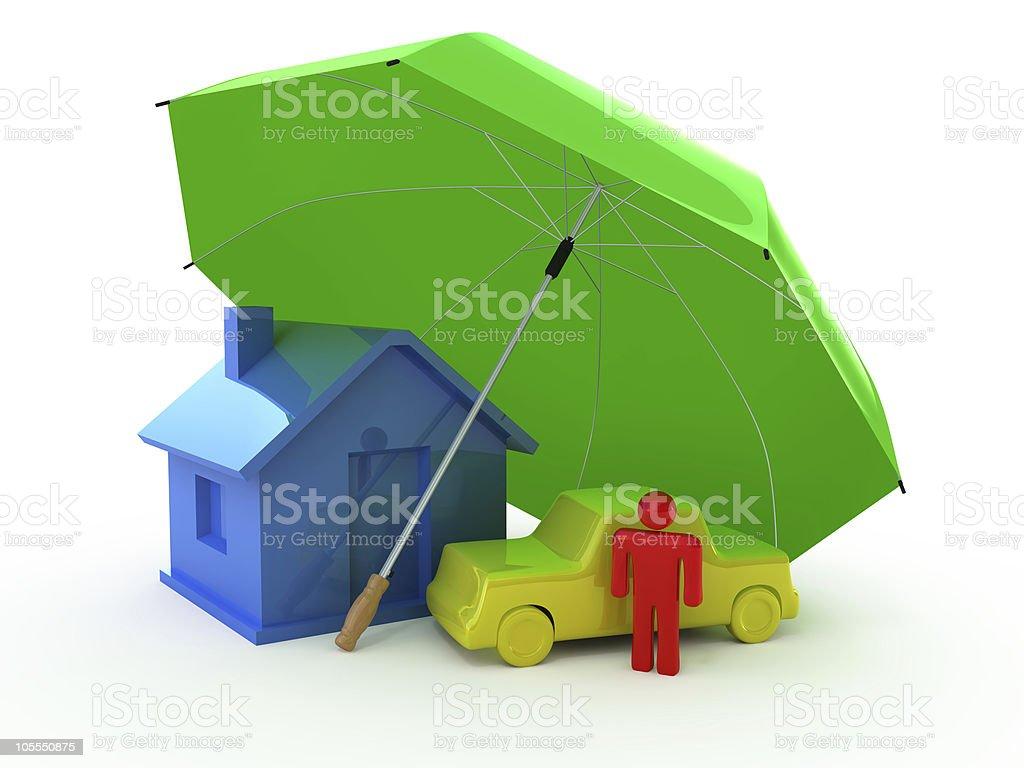Main types of Insurance stock photo